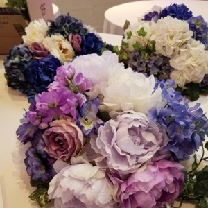 Purple Silk Floral Centerpiece