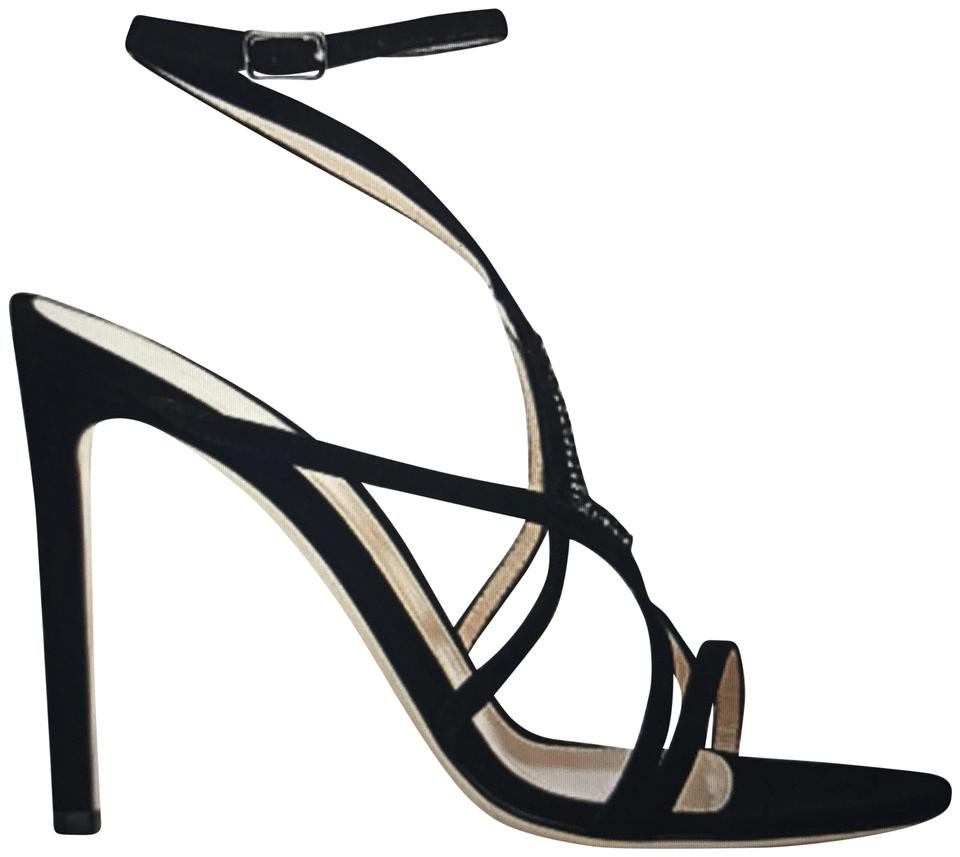 3514d6c7a6a7 Gianvito Rossi Black Crystal-embellished Strappy Sandals Size US ...