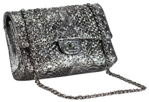 Chanel Phyton Metallic Limited Edition Black Medium Shoulder Bag