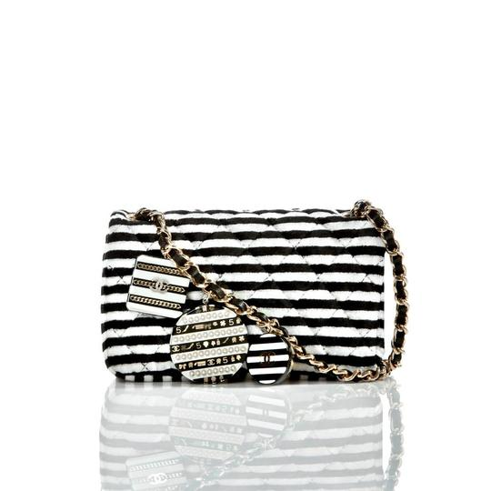 Chanel Mini Flap Striped Shoulder Bag