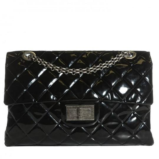 Preload https://img-static.tradesy.com/item/22600148/chanel-255-reissue-classic-flap-xxl-limited-edition-ultra-rare-black-patent-leather-weekendtravel-ba-0-1-540-540.jpg