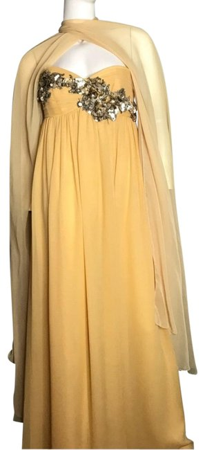 Robert Rodriguez Embellished Cape Gown Long Formal Dress Size 6 (S) Robert Rodriguez Embellished Cape Gown Long Formal Dress Size 6 (S) Image 1