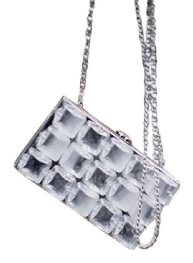 Chanel Ice Cube Limited Edition Minaudiere Silver Clutch