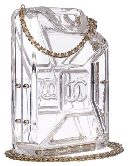 Chanel Resort Dubai Collection Clear GHW Clutch Image 1