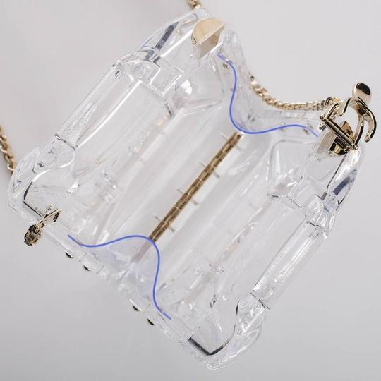 Chanel Resort Dubai Collection Clear GHW Clutch Image 4