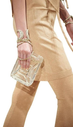 Chanel Resort Dubai Collection Clear GHW Clutch Image 7