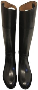 Ralph Lauren Collection Riding Leather Tall Black Boots