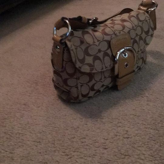 Coach Satchel in tan and brown Image 1