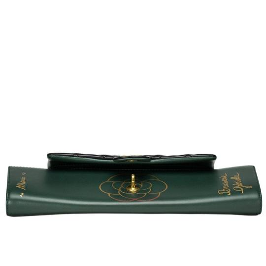 Chanel Flap Rare Green & Black Clutch Image 1