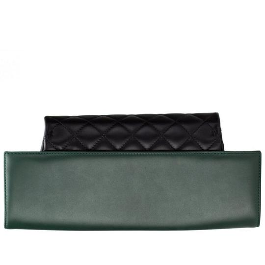 Chanel Flap Rare Green & Black Clutch Image 3