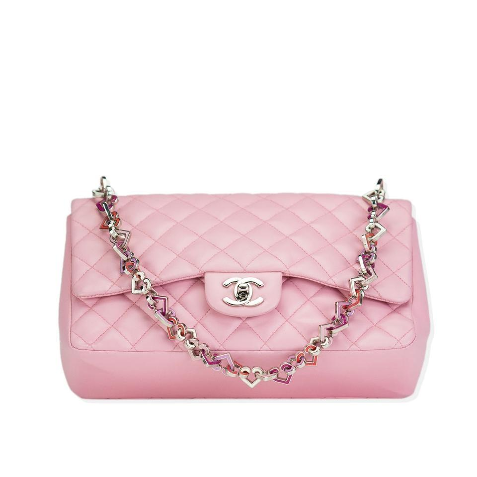 335ad17d26c5 Chanel Classic Flap 2.55 Reissue Lambskin Heart Charmed Pink Leather ...