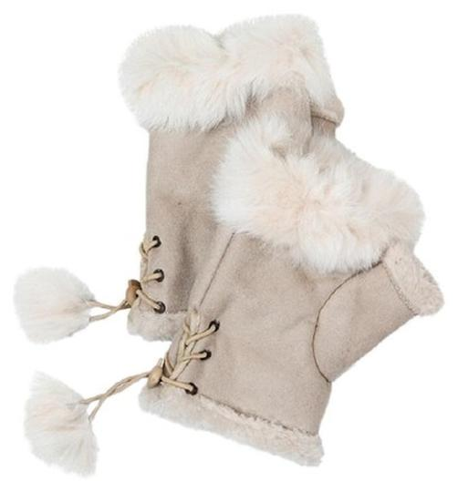 Other New Fur Suede Fingerless Gloves