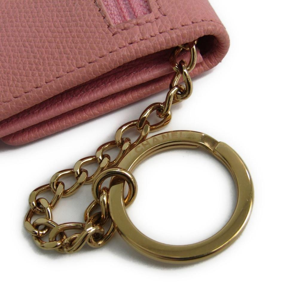 6331dee74d07 Chanel Chanel Coco Button Women's Pink Coin Purse Coin Case Image 11.  123456789101112