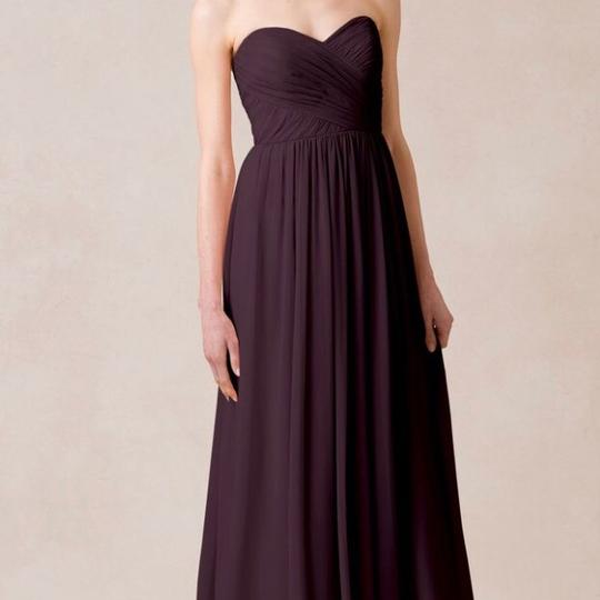 Jenny Yoo Prussian Violet Luxe Chiffon Leah Feminine Bridesmaid/Mob Dress Size 12 (L)