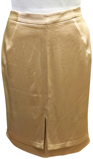 Preload https://img-static.tradesy.com/item/22600499/zac-posen-light-gold-satin-knee-length-skirt-size-14-l-34-0-1-650-650.jpg