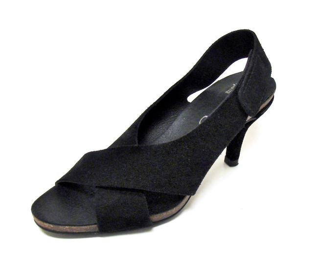 Pedro Garcia Black Libby Suede and Leather Made In Spain Sandals Size US 5.5 Regular (M, B) Pedro Garcia Black Libby Suede and Leather Made In Spain Sandals Size US 5.5 Regular (M, B) Image 1