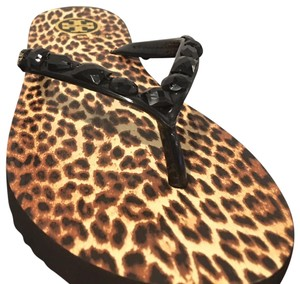 Tory Burch Leopard with studs Sandals