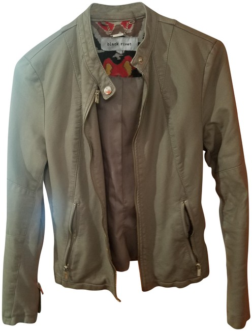 Item - Beige Moto Faux Leather In Taupe Jacket Size 2 (XS)