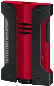 S.T. Dupont S.T. DUPONT DEFI EXTREME SINGLE TORCH RED AND BLACK CIGAR LIGHTER 2140