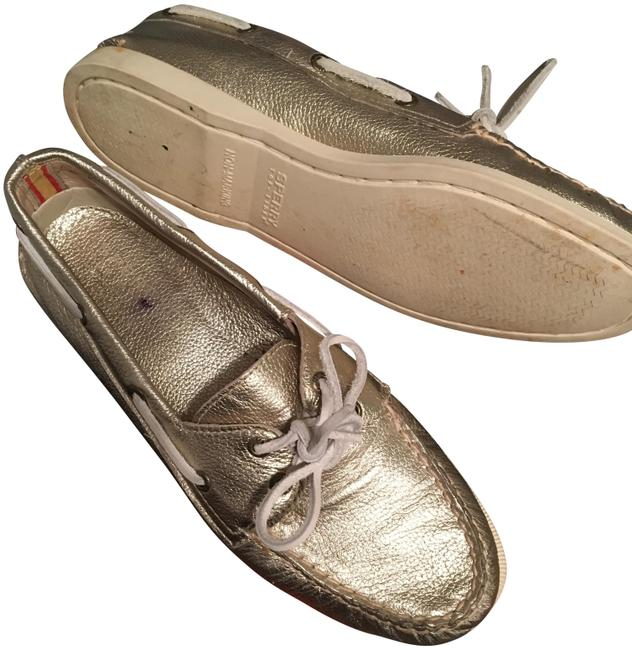 Sperry Metallic Gold Top-sider For J. Crew Flats Size US 8 Regular (M, B) Sperry Metallic Gold Top-sider For J. Crew Flats Size US 8 Regular (M, B) Image 1