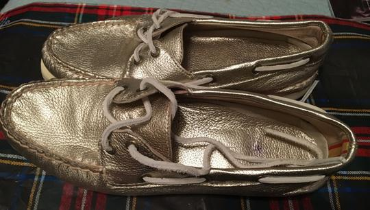 Sperry Leather Metallic Gold Flats
