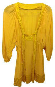 Pleaser Silk Full Sleeve Maternity Top Yellow