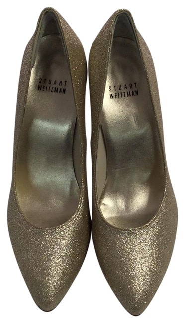 Stuart Weitzman Gold Metallic Pumps Size US 7 Regular (M, B) Stuart Weitzman Gold Metallic Pumps Size US 7 Regular (M, B) Image 1