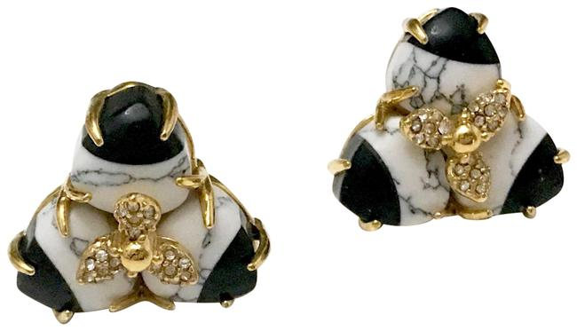 Item - Black and White Marble Earrings
