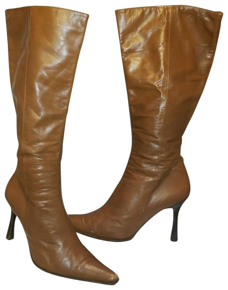 Italian Shoemakers Brown Double Leather Fall Tall and High Classic Fall Leather Boots/Booties d1f17b