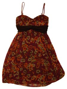 Speechless short dress Paisley Multi Colored Orange Red Brown Mini Fun Flirty on Tradesy