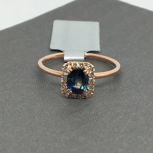 Other 14K Rose Gold Natural Diamond and Sapphire Ring