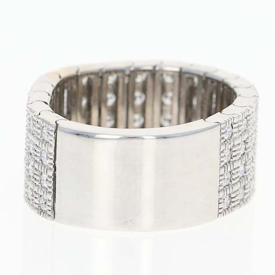 Wilson Brothers Diamond Band Ring -18k White Gold Articulates Size 7 1/2 Round Brillia