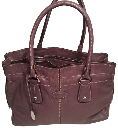 Preload https://img-static.tradesy.com/item/22601207/tod-s-mauve-leather-satchel-0-1-540-540.jpg