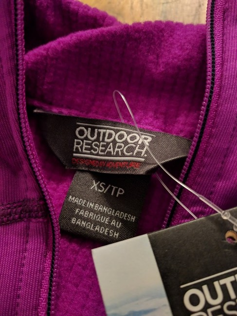 Outdoor Research Outdoor Research Women's Radiant LT Zip Top, Purple, Size XS Image 2