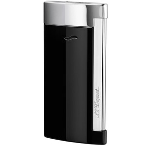 S.T. Dupont S.T. DUPONT SLIM 7 LIGHTER, BLACK LACQUER & CHROME FINISH, 27700