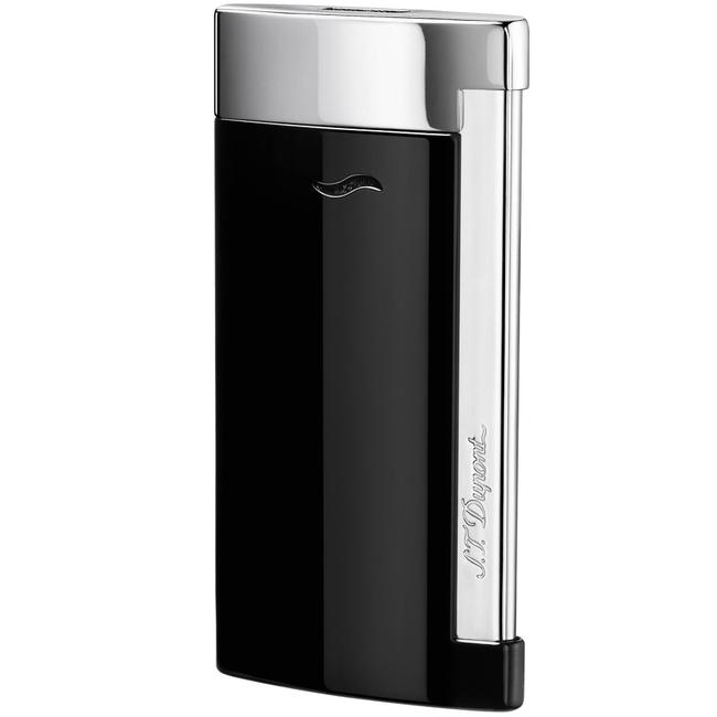 S.T. Dupont Silver Slim 7 Lighter Black Lacquer & Chrome Finish 27700 S.T. Dupont Silver Slim 7 Lighter Black Lacquer & Chrome Finish 27700 Image 1