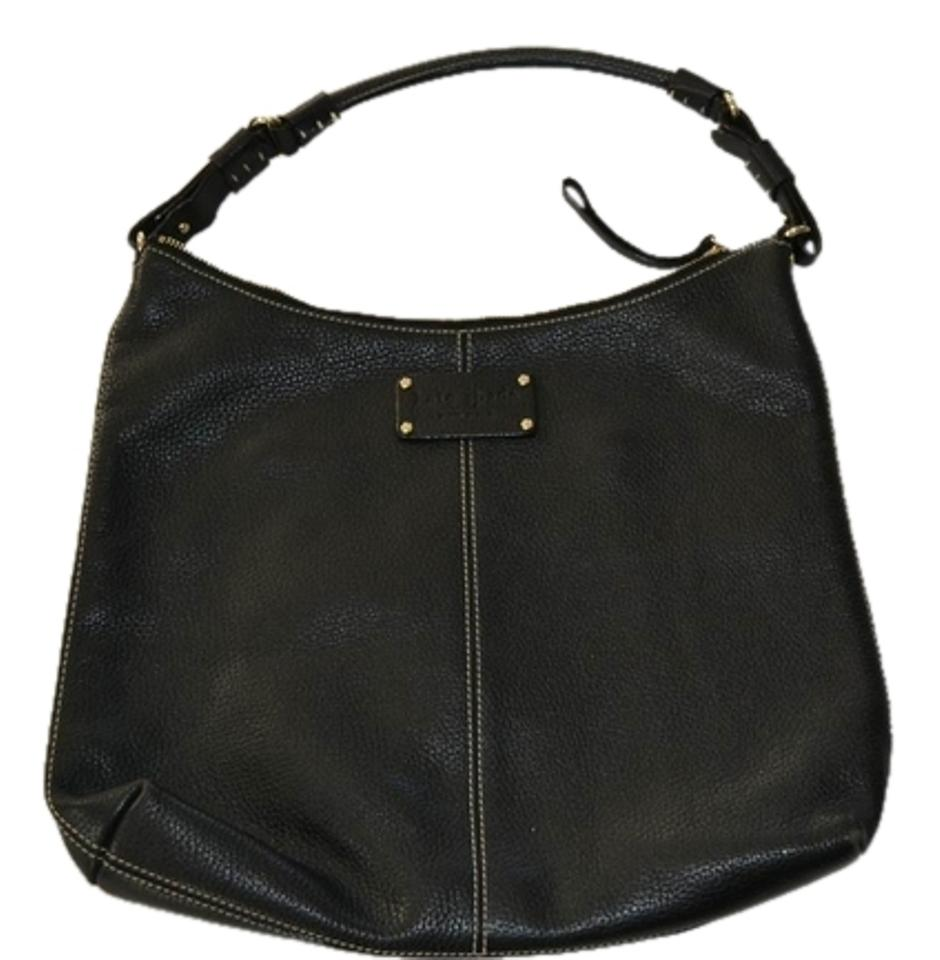 3bece429ab69b Kate Spade Pebbled Leather Gold Hardware Polka Dot Cloth Lining Perfect  Condition Hobo Bag Image 0 ...
