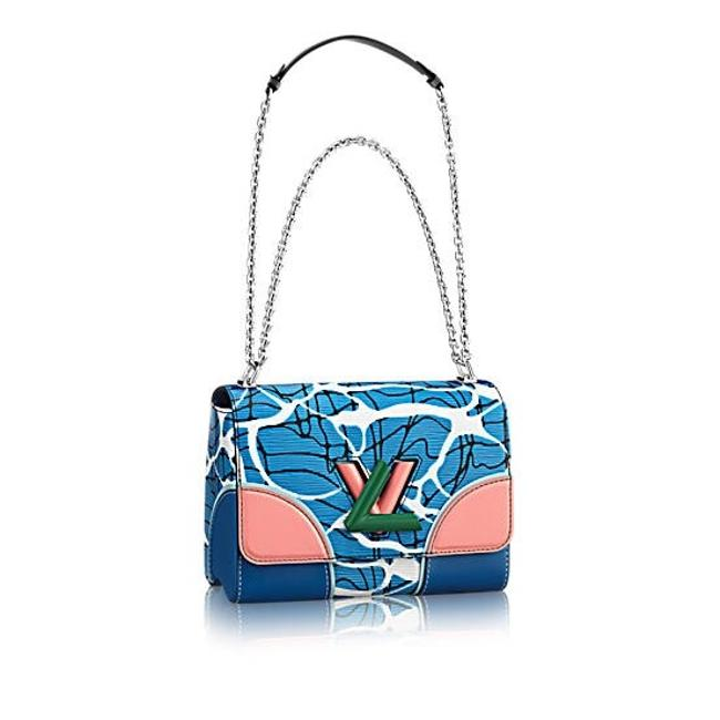 Louis Vuitton Twist Excellent Aqua Print Mm Blue Epi Leather Cross Body Bag Louis Vuitton Twist Excellent Aqua Print Mm Blue Epi Leather Cross Body Bag Image 1