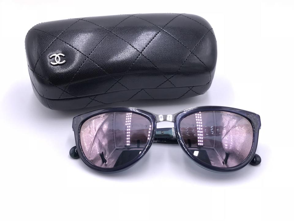 b9bb2db44561 Chanel Purple 2017 Cat Eye Chain Mirror 5361-q C.1576 5r 55. Chanel Summer  cat eye sunglasses Sunglasses Metal Silvery ref.41125 ...