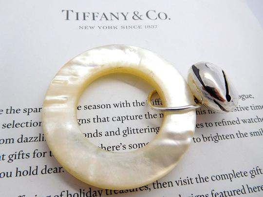 Tiffany & Co. Tiffany Mother of Pearl & Sterling Silver Teething Ring Rattle