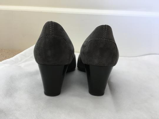 Tod's Suede Pump Gray Wedges