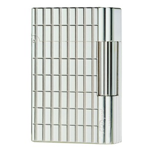 S.T. Dupont S.T. Dupont Silver Plate, Cut Lines Gatsby Lighter, 18138 (018138)