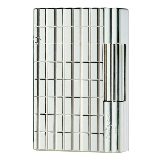 S.T. Dupont Silver Plate Cut Lines Gatsby Lighter 18138 (018138) S.T. Dupont Silver Plate Cut Lines Gatsby Lighter 18138 (018138) Image 1
