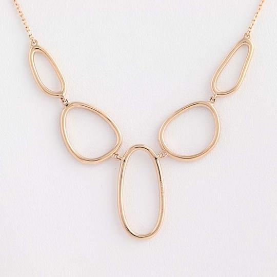 Wilson Brothers NEW Contemporary Diamond Necklace - 14k Rose Gold Adjustable Chain .31