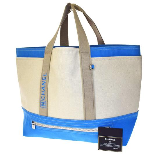 Chanel Made In Italy Tote in Blue Ivory