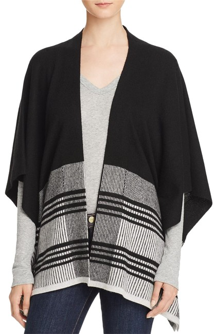 Preload https://img-static.tradesy.com/item/22601910/black-women-s-color-block-wool-blend-poncho-xss-cardigan-size-4-s-0-1-650-650.jpg