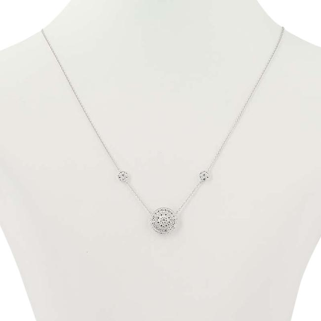 """Wilson Brothers Jewelry New Diamond 3/4"""" - 14k White Gold Cluster Halo Round Cut . Necklace Wilson Brothers Jewelry New Diamond 3/4"""" - 14k White Gold Cluster Halo Round Cut . Necklace Image 1"""