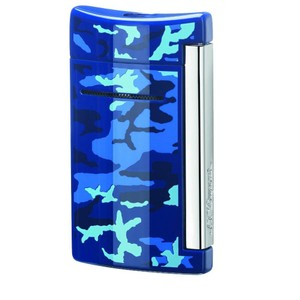 S.T. Dupont S.T. DUPONT MINIJET TORCH FLAME LIGHTER, BLUE CAMOUFLAGE 10088