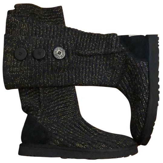 Preload https://img-static.tradesy.com/item/22602257/ugg-australia-black-gold-classic-cardy-sweater-bootsbooties-size-us-7-regular-m-b-0-1-540-540.jpg