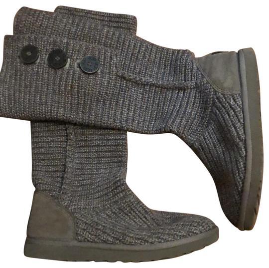 UGG Australia Gray Classic Cardy Sweater Boots/Booties Size US 7 Regular (M, B) Image 0